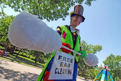 Free!  Ear Cleaning! by Stretch the nine foot clown!