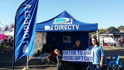 DIRECTV pop-up tent.