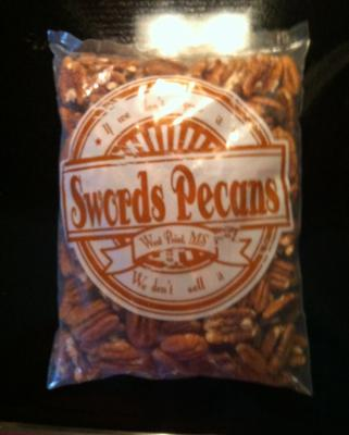 Sample of our shelled out one pound bag of pecans.