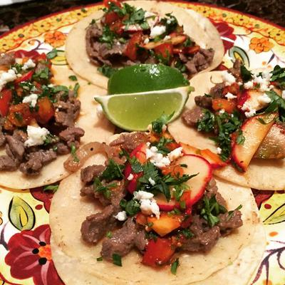 Asada tacos.