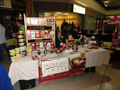 Tastefully Simple @ vendor show in mall.