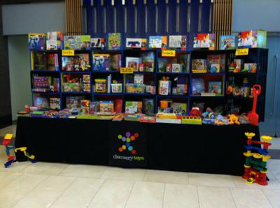 Sample Discovery Toys Booth.