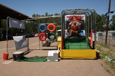 Mobile sports trailer.