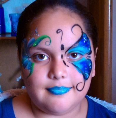 My Model blu butterfly.