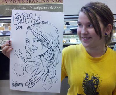 Drawn at a grand reopening of a Kroger.