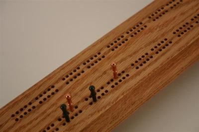 One Example Cribbage Board