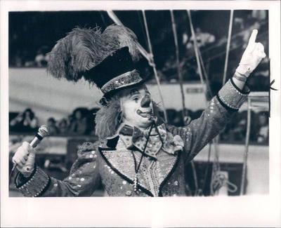 1st Singing Clown Ringmaster @ Ringling Bros. Circus