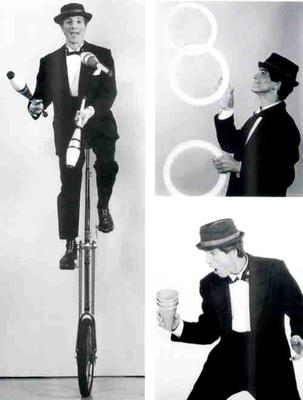 Tall Unicycle & Juggling Composite
