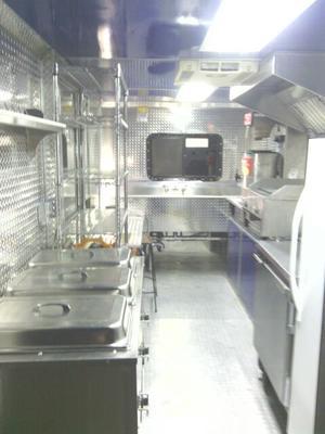 Interior of Food Trailer