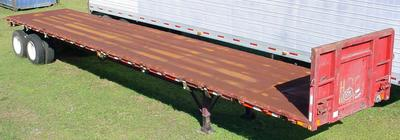 flat bed semi trailer