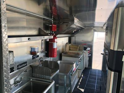 Interior of Catering Truck