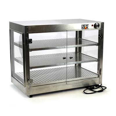 HeatMax Commercial 30 x 18 x 24 Countertop Food Warmer Wide Display