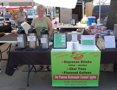 Booth at Freight House Farmer's Market.