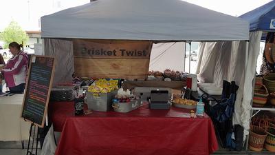 Tent Setup at the Farmer's Market.