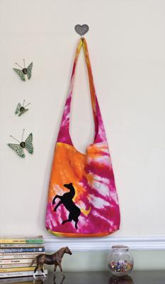One-of-a-kind Tie-Dye Shoulder Bag.