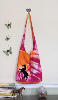 One-of-a-kind Tie-Dye Shoulder Bag.