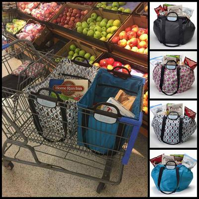 Our Clever Shopper holds up to 40 lbs.