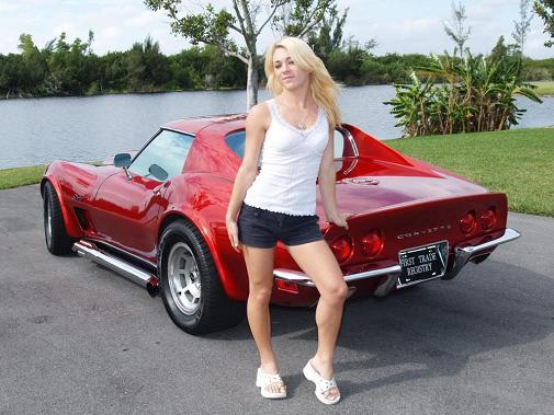 Classic Corvette Babe