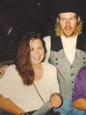 Doodles By Debbie pictured here with Country Legend Toby Keith.