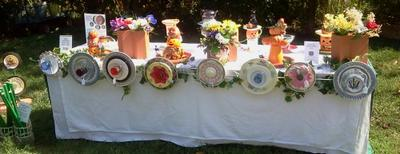 Everlasting Garden Re-Cycled Repurposed Yard and Home Art Garden Flower Plates And More