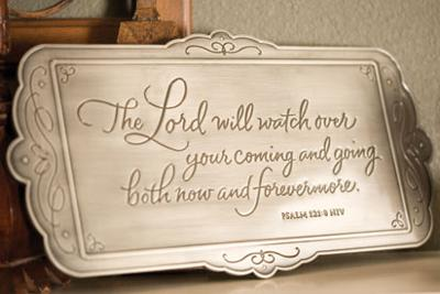 Home Blessing Engraved Wall Sign