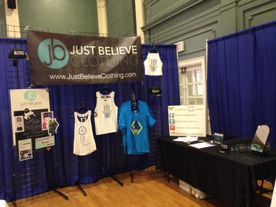 Set up at Fearless Expo at Johnson & Wales University.