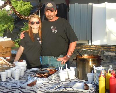 My daughter and I at the 2012 Pig Iron BBQ Challenge benefiting the Childrens Harbor Family Center.