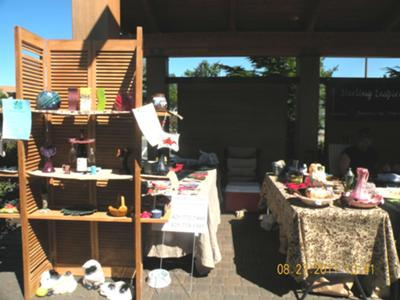 Booth at Saturday Market.
