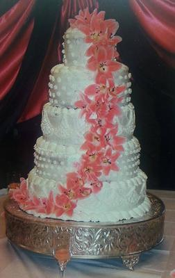One of the Wedding cakes we have done.