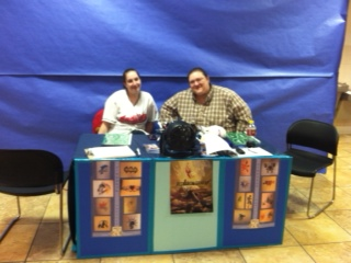 Our Table at Eagles Nest Easter Bunny Celebration.