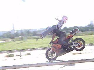 One of our stunts.