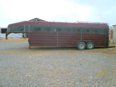 Seven Horse Slant Load Custom Built Trailer