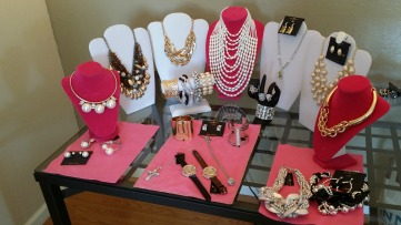 Pre-Staging Jewlery for Event