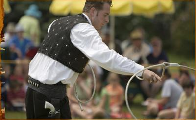 Rope Spinning with Daniel E. Wallen. A featured act in the D.E. Wallen Wild West Show